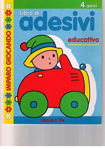 Imparo giocando. Libro di adesivi educativo 4+ -E.Elle- Libro nuovo in offerta!