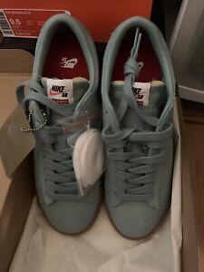 sports shoes 9457c cc659 Details about Nike Supreme Blazer Low GT QS Cannon Gum Blue 716890-009 9.5  Teal Blue Air Max X