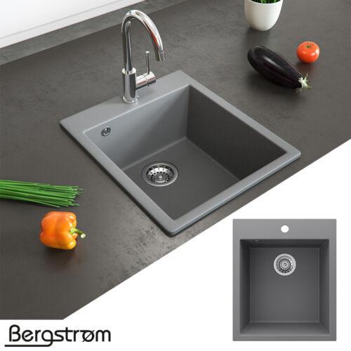 Bergström évier en granit « Venise » siphon inclus évier de cuisine à encastrer