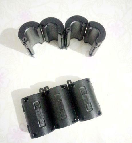 50pcs 11 mm nouveau noir TDK Clip-Sur RFI EMI Filtre Snap Around Ferrite