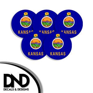 Kansas-State-Flag-KA-Circle-Sticker-USA-Helmet-Decal-5-Pack-2-5in