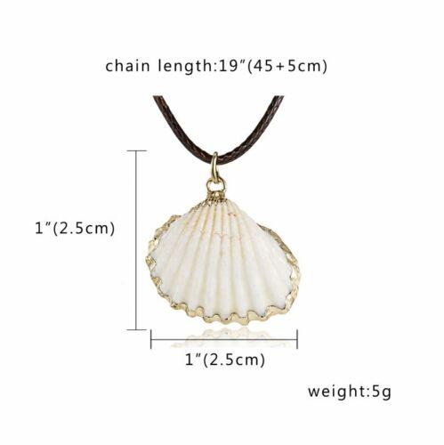 Femmes Boho naturel vis Shell Perle Collier Pendentif Longue Corde Bijoux Cadeaux