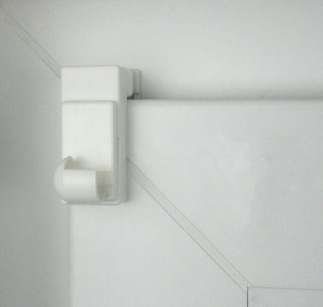 Cafehausstangen Weiß 2x Klemmträger Klemmhalter Für Scheibengardinenstangen