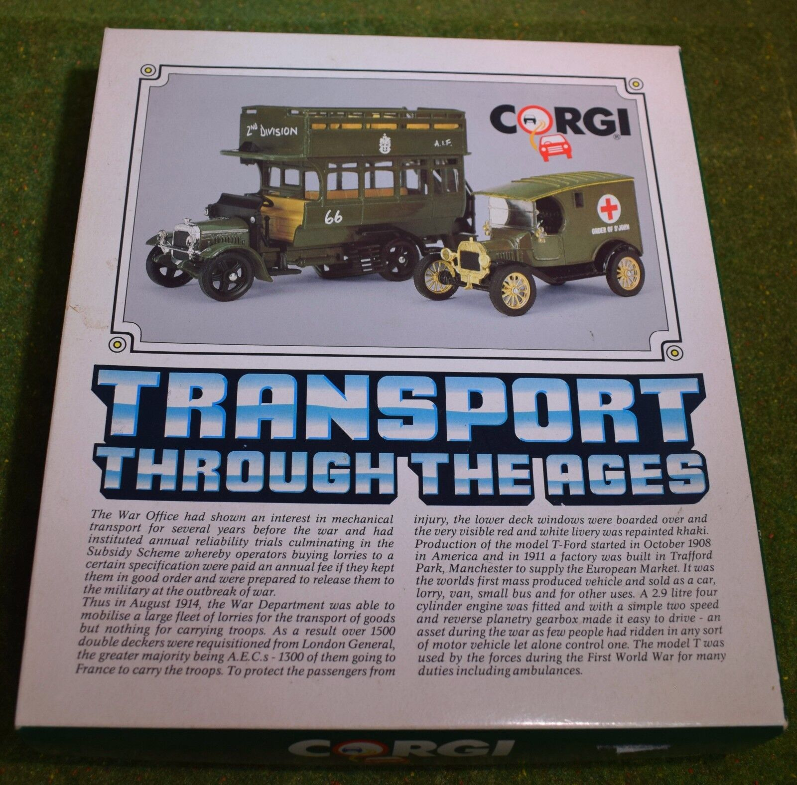 DIE CAST CORGI CLASSICS C88 TRANSPORT THROUGH THE AGES BUS & VAN