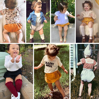 Infant Baby Girl Boy Cotton Shorts PP Pants Nappy Diaper Covers Bloomers 3-18M