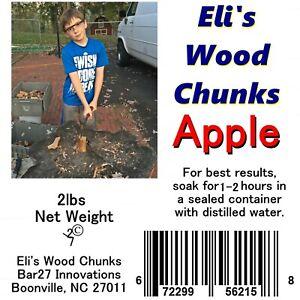 Eli/'s Wood Chunks APPLE CHIPS 2lb Bbq Smoker Meat Smoking Grilling USA