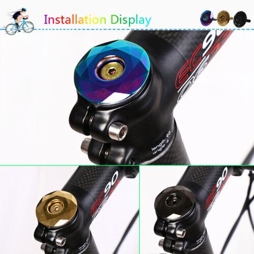 "KRSEC Road MTB Mountain Bike Top Cap 1-1//8/"" For Headset//Stem Titanium-plated"