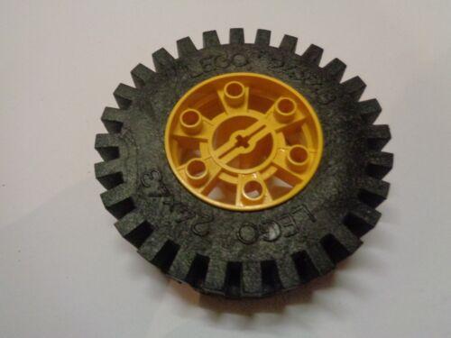 LEGO Technic Wheel 24 x 43 Technic with Black Tire 24 x 43 3739 3740 3739c01