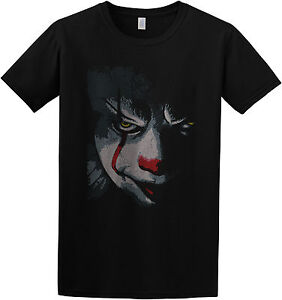 Pennywise-IT-2017-Movie-Inspired-Creepy-Scary-Clown-T-Shirt-Top-S-M-L-XL-2XL