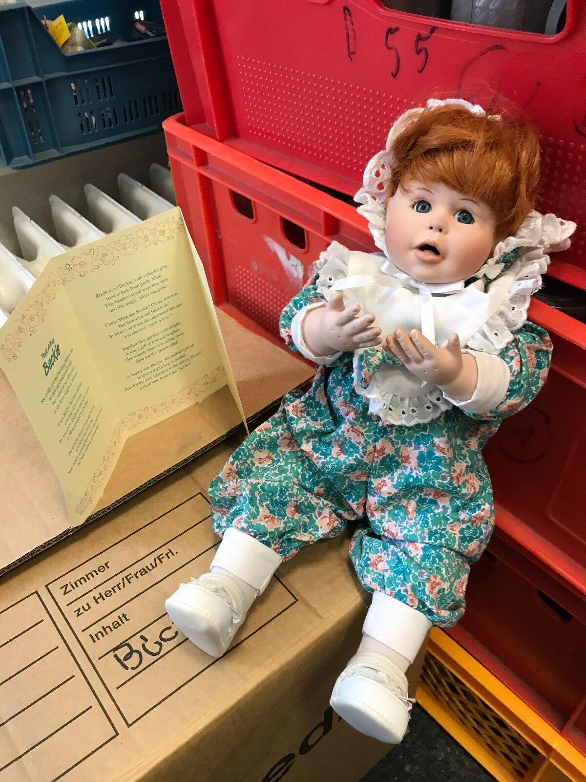Künstlerpuppe Porzellan Puppe 35 cm. Top Zustand