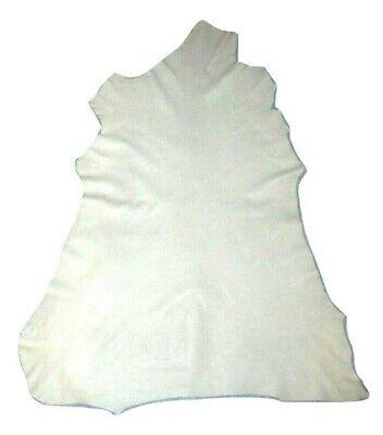 High End Thin 1.5 oz Cream White Sheepskin Leather Hide Dollmaking Lining