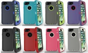 5x-Protective-Hybrid-Rugged-Shockproof-Case-Cover-For-Apple-iPhone-6-6s-7-8-Plus