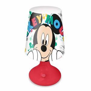 Mickey Mouse Lampe LED Tisch Licht Batterie Betrieben Tragbar Kinder Disney