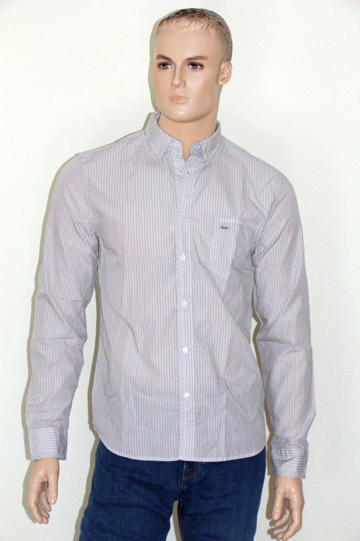 LACOSTE Camicia, Tg. 41, regular fit, Marronee