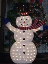 Outdoor Lighted Snowman Holiday time christmas decor 56 fluffy snowman sculpture ebay item 2 christmas big outdoor lighted fluffy tinsel snowman figure yard sculpture 56 4 christmas big outdoor lighted fluffy tinsel snowman figure yard workwithnaturefo