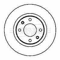 Vented 266mm BBD4245 Borg /& Beck Set 4246W1 4246W7 424915 Pair 2x Brake Discs