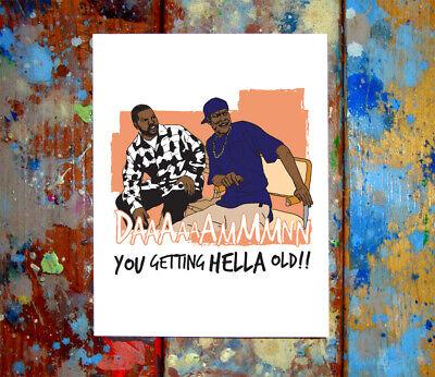Craig /& Smokey Friday Happy Birthday Greeting Card Funny 90s Cali West Coast