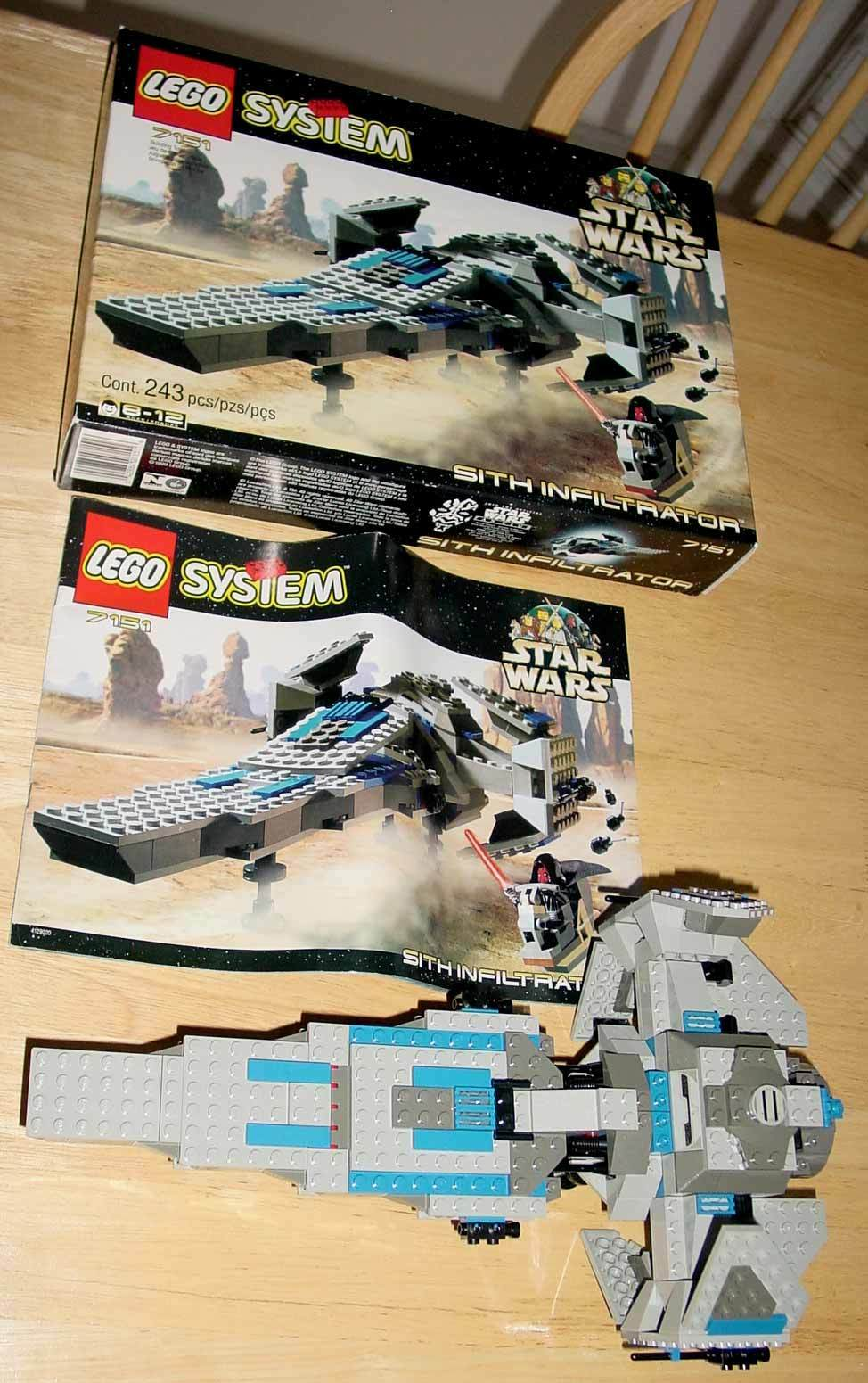 LEGO 7151 STAR WARS SITH INFILTRATOR COMPLETE - OPENED BOX - WITH INSTRUCTIONS