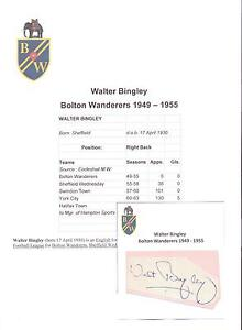 WALTER-BINGLEY-BOLTON-WANDERERS-1949-1955-ORIGINAL-HAND-SIGNED-CUTTING-CARD