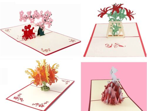 Kirigami Card Hand assembled Greeting Cards by HelloPopcards Ship from USA