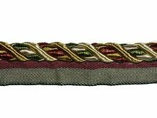 Trimland Cavalier 1034T 8756 GREEN DUSTY ROSE VANILLA Decorative Cording w/ Lip