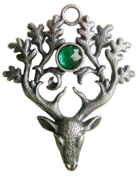 Greenwood Stag Lord Pendant Cernunnos Wicca Celtic Pagan Amulet Talisman Druid