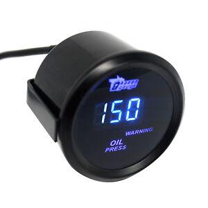 2-039-039-52mm-Oldruckanzeiger-Blau-LED-Digital-Anzeige-Mit-Sensor-0-150PSI