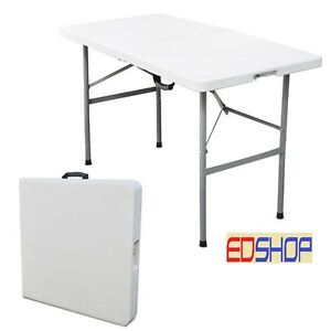 Tavolo tavolino pieghevole richiudibile resina metallo sagre fiere 122x60xh74 ebay - Tavolo richiudibile ...
