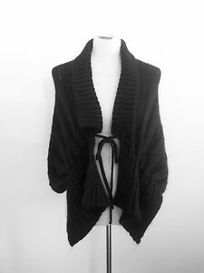 Warmth-amp-Style-Sarah-Bella-black-mohair-blend-shrug-in-excellent-condition