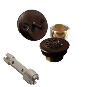 Oil Rubbed Bronze Trip Lever Bath Tub Drain Shower Trim Kit And Removal Tool