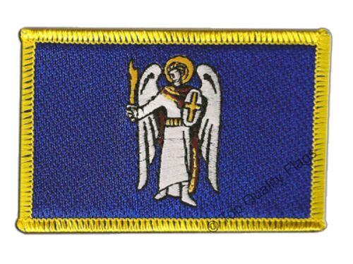 Ukraine Kiev Flag EMBROIDERED PATCH 8x6cm Badge