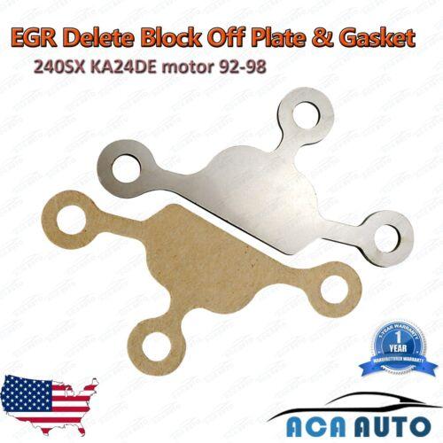 240SX KA24DE EGR Block Off Delete Plate Blocker For Nissan With Gasket 92-98 SS