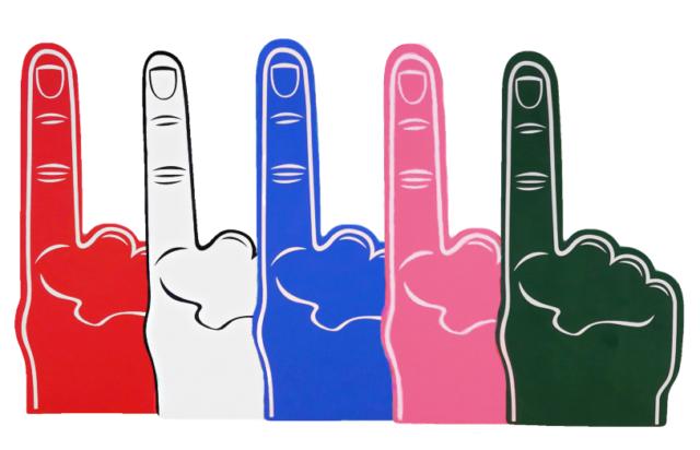 Verzamelingen Economy Size Palm Printed Giant Foam Hand Pointy Finger