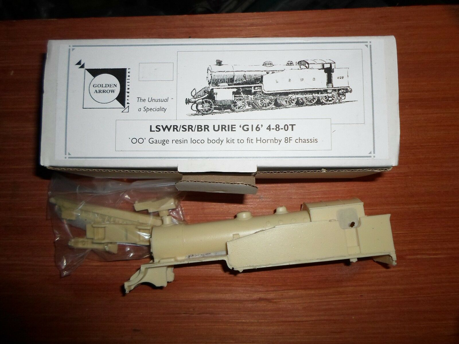 LSWRSRBR 'G16' 480T Resin corpo kit, 4mm finescale. Fits Hornby 8F chassis
