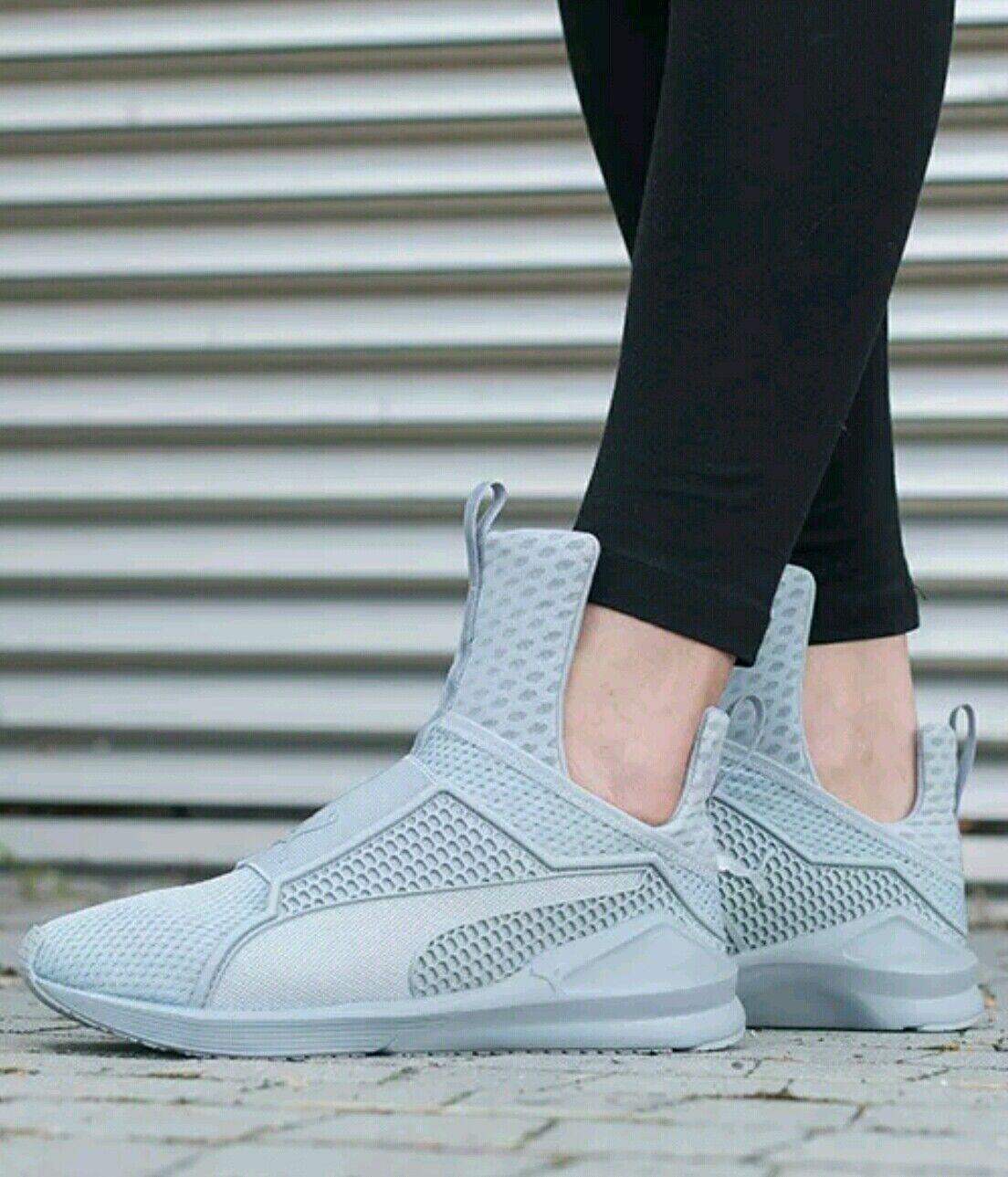 PUMA by Shoes Rihanna 'Fenty' Grey Trainer Sneakers Shoes by (Women) sz 7 4cf9c6