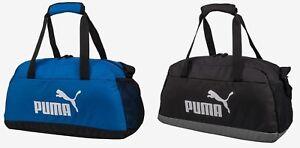 7a9bdbb162c3 Puma Phase Sports Small Duffel Bags Running Black Blue GYM Bag Sacks ...