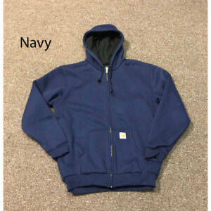 Details about J149 Carhartt Men's Thermal Lined Hooded Zip Front Sweatshirt Several Colors NEW