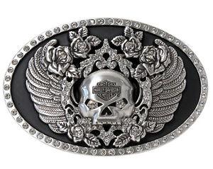 Harley-Davidson Womens Willie G Fire Eyes With Rhinestones Buckle HDWBU10646 NEW