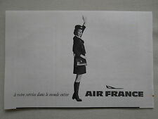 3/1970 PUB AIR FRANCE AIRLINE HOTESSE DE L'AIR STEWARDESS ORIGINAL FRENCH AD