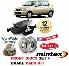 FOR SUZUKI ALTO 1.1 2002-2006 NEW FRONT BRAKE DISCS  231mm VENTED SET & PADS KIT