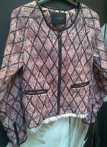 Jacket Xs Diamond Blazer 8 Asos 36 Maison Scotch 1 Boucle 4 Woven Tweed nxqBY0wzH