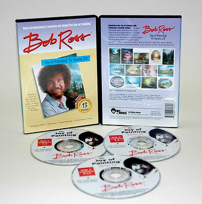 BOB ROSS, 3-disc DVD SET, Series 23 Teaches13 Paintings