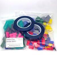 182pc High Temp Silicone Powder Coat Plugs, Caps & Tape Kit Assortment Coating
