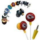 NFL Mini Earbuds Earphones with team logo ihip Assorted-Teams.