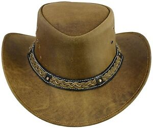 La imagen se está cargando Sombreros-Vaqueros-de-estilo-occidental-de -cuero-Bush- 33f60e0c0bd