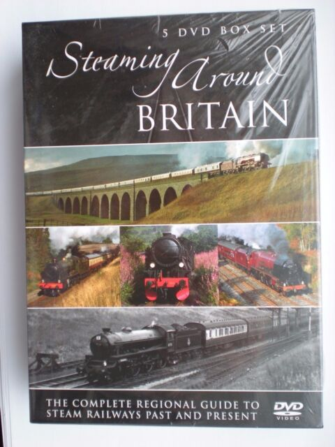 Steaming around Britain 5 DVD box set. New and sealed.