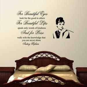 Adesivi Murali Audrey Hepburn.Per Beautiful Occhi Audrey Hepburn Sticker Adesivi Murali Decal