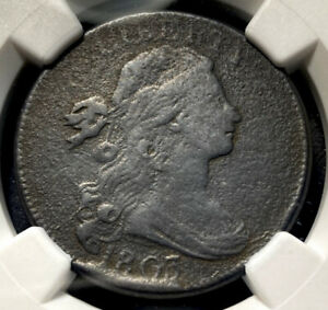 1803 Draped Bust Large Cent 1c S-263 R-3 Retained Cud LDS SM Date SM Frac NGC