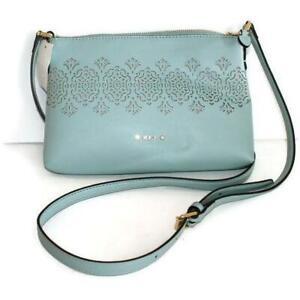747ae0904ee2 Ralph Lauren RLL Light Blue Lauderdale Tasmine Crossbody Bag Handbag ...
