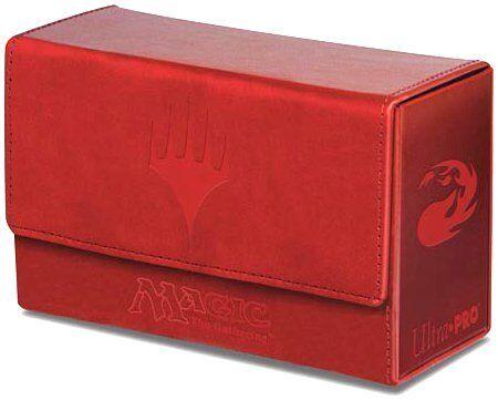 Red Ultra Pro GAMING SUPPLY BRAND NEW ABUGames Mana Symbol Dual Flip Deck Box